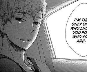 black&white, boy, and manga image