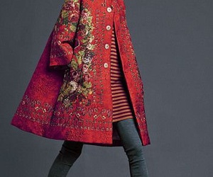 coat, embroidery, and open image