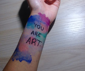 art, blue, and body paint image
