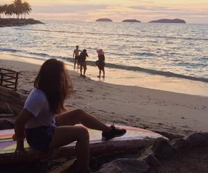 beach, hair, and sand image