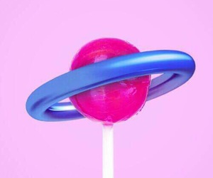 pink, planet, and lollipop image