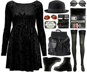 black, witch, and black dress image