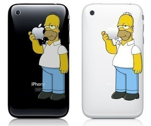 homer, iphone, and simpsons image