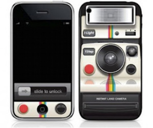 mobile, polaroid, and iphone image