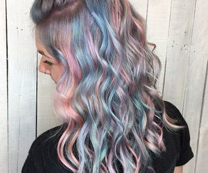 blue, braid, and coral image