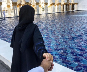 arab, couple, and hands image