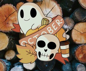 background, october, and calavera image