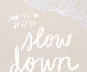 quote, beach, and relax image