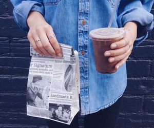 coffee, food, and jeans image