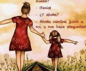 daughter, frases, and mom image