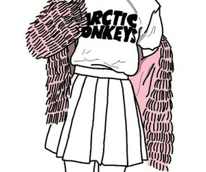 arctic monkeys, drawing, and outline image