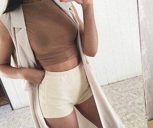 aesthetic, cream, and shorts image