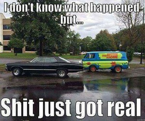 supernatural, scooby doo, and funny image