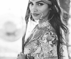 beauty, black and white, and india image