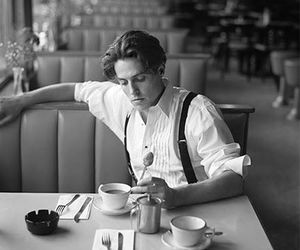 hugh grant, black and white, and actor image