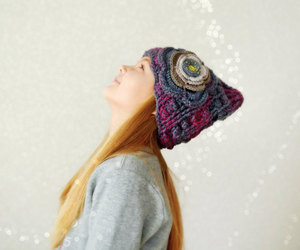 crocheting, handmade, and hat image