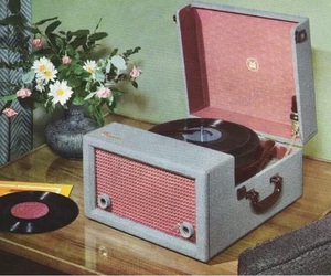 vintage, pink, and music image
