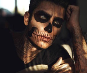 boy, Halloween, and makeup image