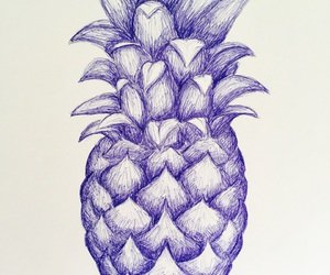 ananas, blue, and draw image