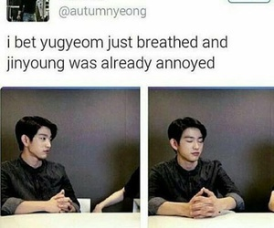 funny, meme, and jinyoung image