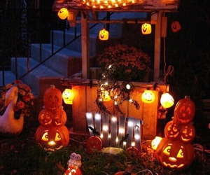 drinks, ghosts, and pumpkin image