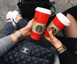 cup, starbucks, and friends image