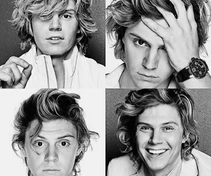 beautiful, black and white, and evan peters image