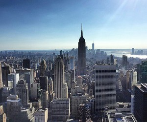 city, empire state building, and new york image