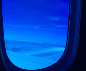 aesthetic, airplane, and black image