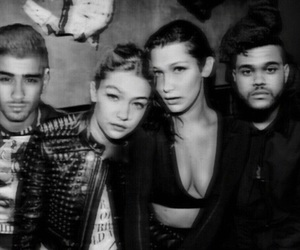 bella hadid, gigi hadid, and the weeknd image