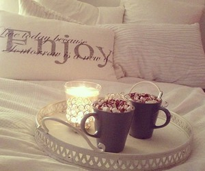 bed, enjoy, and candle image