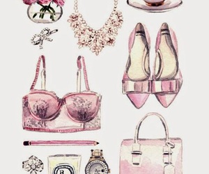 draw, fashion, and pink image
