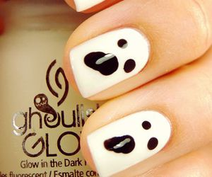 ghost, Halloween, and nails image