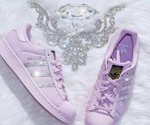 diamonds, purple, and fashion image