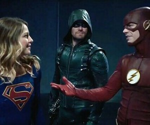 arrow, flash, and Supergirl image