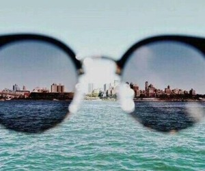 city, glasses, and newyork image