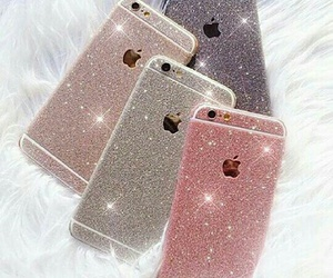 iphone, glitter, and phone image