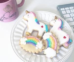food, unicorn, and girl image