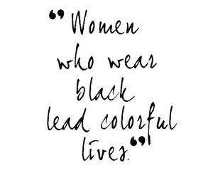 black, quote, and clothes image