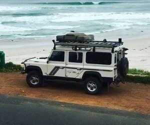 adventure, beach, and car image