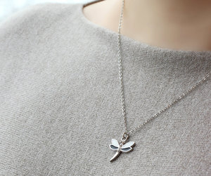 etsy, dragonfly pendant, and everyday necklace image