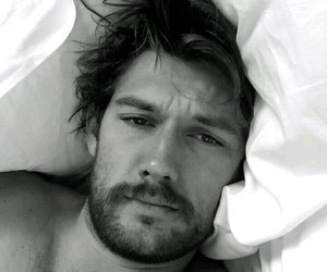 alex pettyfer, bed, and boy image