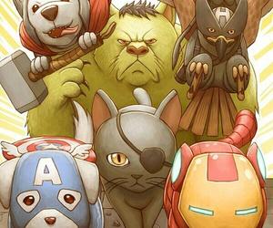 dog, Avengers, and Hulk image