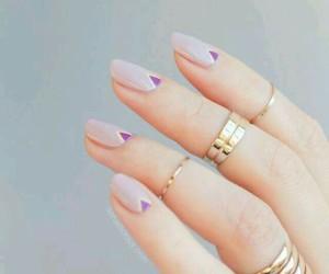 nails, nail art, and rings image