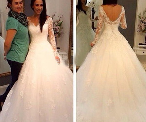 long sleeve and wedding dress image