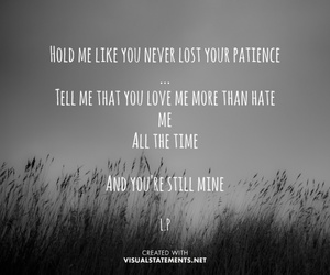 hate, hold me, and Lyrics image