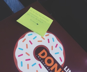 boyfriend, couple, and donuts image