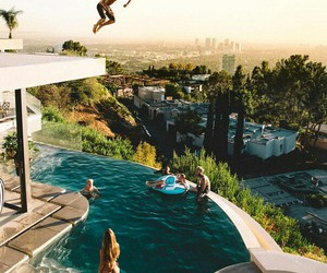 happiness, pool, and youth+ image