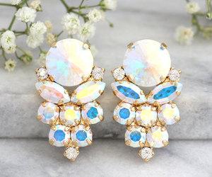 aurora borealis, earrings, and fashion image