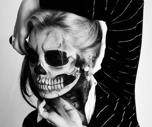 Halloween, skull, and makeup image
